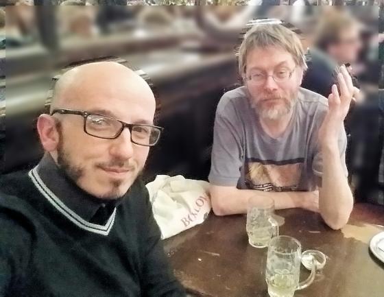 Antonio and Felix in Brussels, 2016.