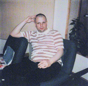 Syd Barrett, at the Wish You Were Here sessions, 1975.
