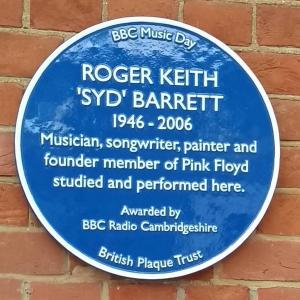 Anglia Ruskin University: Syd Barrett Blue Plaque unveiled.