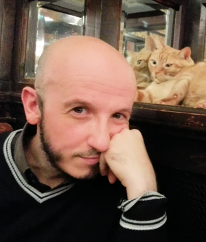 Antonio Jesus in Brussels (with ginger cat)