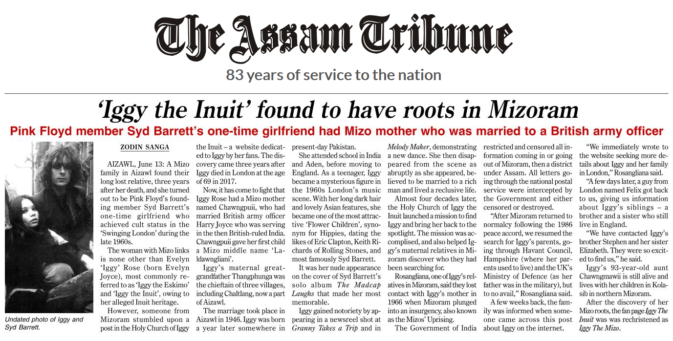 Iggy the Inuit found to have roots in Mizoram