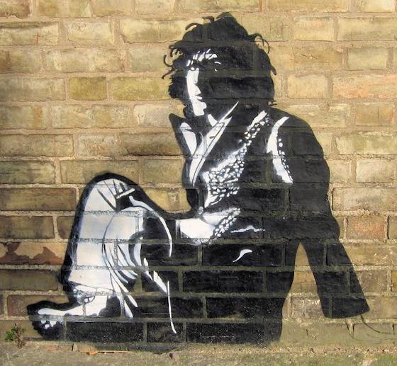Syd Barrett street painting, Maya Deren, 2006.