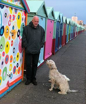 David Gilmour and his dog