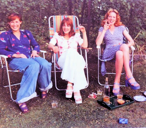 Dominique, Gala and Lindsay, mid-Seventies
