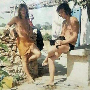 Po and Emo, Formentera, 1969-ish.