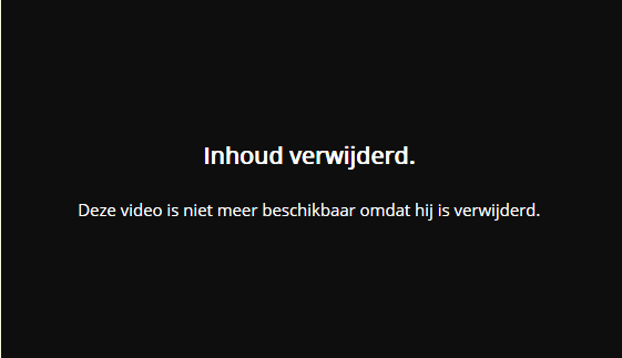 Video down message.