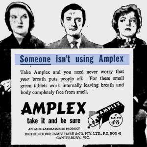 Amplex ad, ca. 1958.