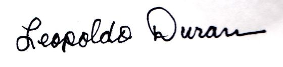 Leopoldo Duran signature