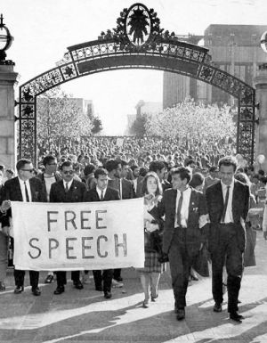 Free Speech movement at Berkeley
