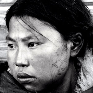 Tattooed Inuit Woman