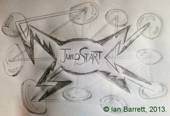 Jumpstart by Ian Barrett (early sketch)