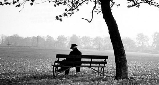 Man on a bench, Feri Lukas.