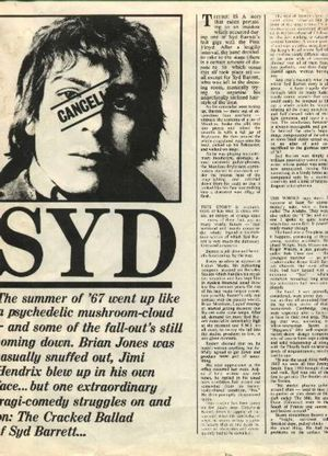 The Cracked Ballad of Syd Barrett, NME 1974.