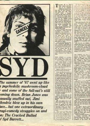 The Cracked Ballad of Syd Barrett, NME 1974.
