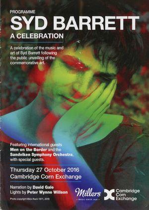 Programme of Syd Barrett: A Celebration.