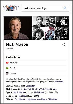 Nick Mason declared dead.