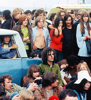 Syd and Gretta at the Isle of Wight festival, 1969.